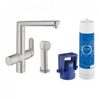 Grohe Blue K7 Pure Starter Kit 31354 für BWT-Filter L-Ausl. S.-Brause supersteel