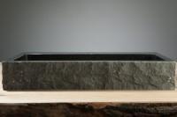 Palermo Waschbecken, B: 600, T: 400, H: 100 mm, Material: Hartstein, aussen rau
