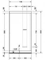 Duravit Sauna Inipi 2350x1170x2220mm