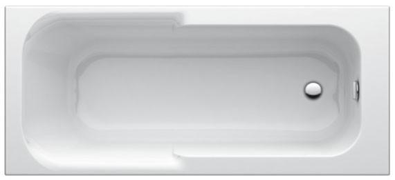 Körperform-Badewanne Playa 1800mm weiss T962901