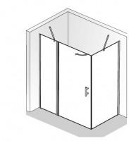 HSK Favorit Nova Drehtür an Nebenteil, 2-teilig und Seitenwand