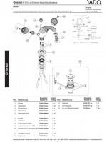 Ideal Standard JADO Metallgriff kpl., H960112H3 Chrom/Gold