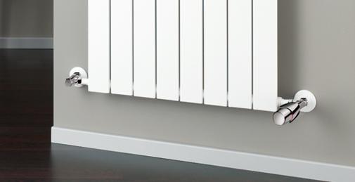 HSK Seitenanschluss-Set, inklusive Design-Thermostatregler, chrom HSK890824