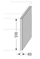 Sanipa Konsolenplatte vertikal WT38014, Pinie-Grau