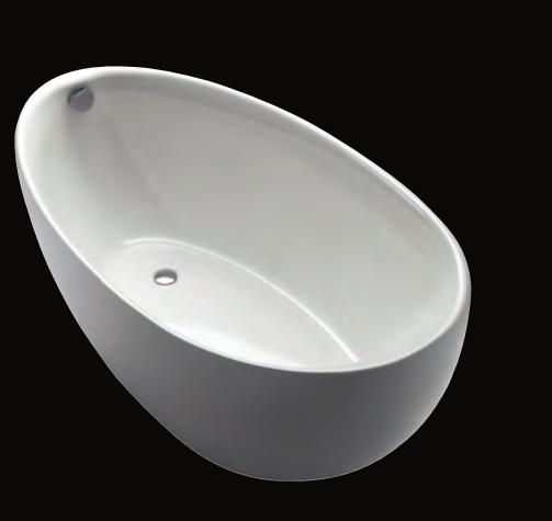 Ferrara Mono 180/85 F freistehende Badewanne, L: 1800, B: 850, H: 760 mm, weiss 31521W