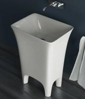 ArtCeram Cow freistehender Waschtisch, B: 600, T: 450, H: 850 mm, weiss glänzend
