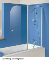 HSK Exklusiv Badewannenaufsatz 2-teilig, Festelement und 1 bewegliches Teil