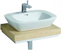 Keramag Waschtisch-Platte Silk 816260 Ausschnitt mittig, B: 600, H: 100, T: 470 mm, 816260000
