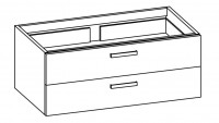 """Artiqua COLLECTION 413 Waschtischunterschrank zu""""iCon""""124020 B:1150mm 2 Auszüge"""