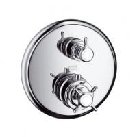 Hansgrohe Thermostat Unterputz Axor Montreux F-Set chrom mit Absperrventil, 16800000