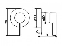 Keuco Einhebelmischer Griff IXMO 59551, passend zu Edition 400, Bronze poliert, 59551021501