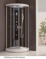 Neuesbad Design Black Dampfdusche Viertelkreis 90xx 90 cm