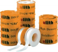 F.W. Burmann GmbH & Co. KG Gewindedichtband, PTFE FRp Feingewinde Kern weiß Hülse gelb Rolle L.12m B
