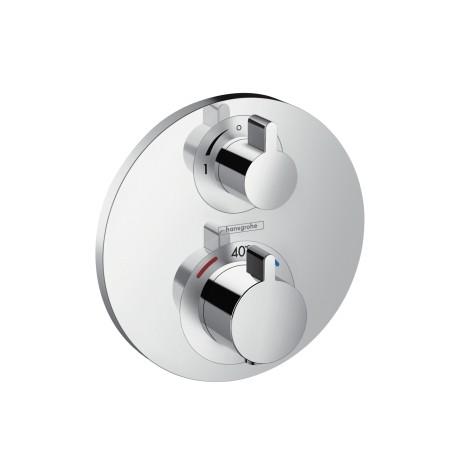 Hansgrohe Thermostat Unterputz Ecostat S Fertigset 1 Verbraucher chrom , 15757000