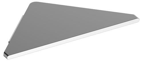 Keuco Eckduschablage Edition 400 11557, mit Glasabzieher, Aluminium silber-eloxiert, 11557170100