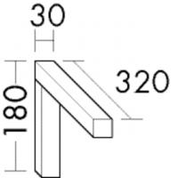Burgbad Konsolenträger 180x30x320 , ACAD002