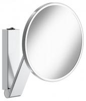Keuco Kosmetikspiegel iLook_move rund 17612 beleuchtet, Wippschalter, verchromt, 17612019004