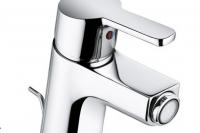 Kludi Bidet-Einhandmischer Logo Neo m. Ablaufgarnitur, Überwurfmutter, chrom
