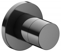 Keuco Ab- und Umstellventil IXMO Pure 59557 rund, Schwarzchrom poliert, 59557120001