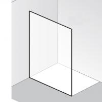 HSK Walk In Atelier Pur AP.78 1 Glaselement, ohne Bohrungen und Zubehör