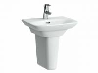 Laufen Handwaschbecken, Palace, 450x360, 1 Hahnloch mittig, mit Überlauf, weiß, 81570.1, 81570100010
