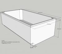 Neuesbad Wannenträger für Kaldewei Asymmetric Duo 190x100