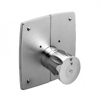 KWC Automatik gesteuert STOP+ ganzchrom, Abgang oben oder unten