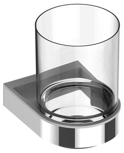 Keuco Glashalter Smart.2 14750, kpl. m. Echtkristall-Glas, verchromt, 14750019000