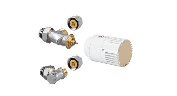 Jaga Thermostatventil Euro-Konus, verchromt, für Aluverbundrohr 16/2mm