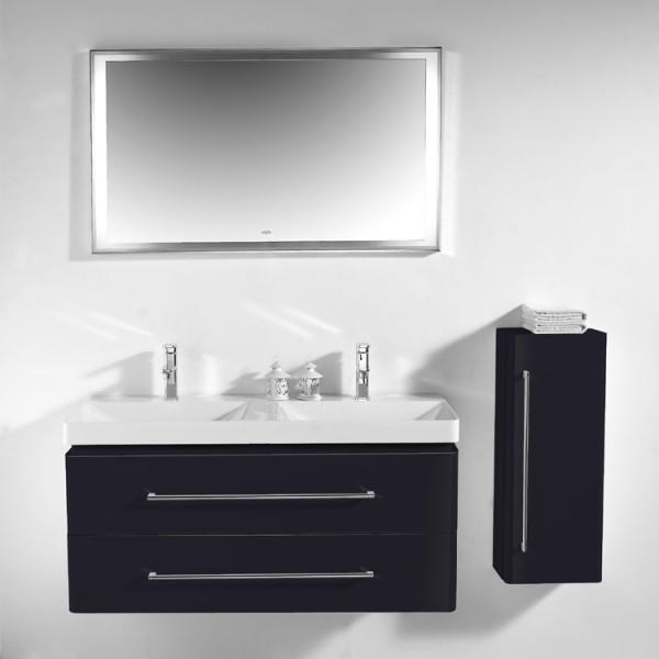 Neuesbad 4000 Badmöbelset 120 cm Breite, inklusive Waschtisch, Unterschrank und Spiegel