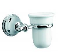 Damixa TRADITION Zahnputzbehälter mit Wandhalter Chrom