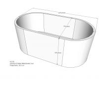 Neuesbad Wannenträger für Bette Starlet (oval) 1500x800