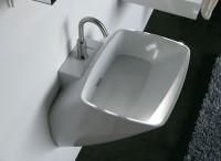 Axa one Serie 138 Waschtisch mit 1 Hahnloch, B: 600, T: 500 mm, weiss glänzend