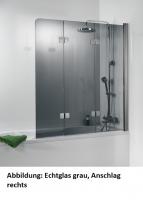 HSK Premium Softcube Badewannenaufsatz 3-teilig