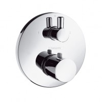 Hansgrohe Thermostatmischer UP Ecostat F-Set chrom m.Ab-u.Umstellventil zyl.Griff, 15721000