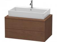 Duravit Waschtischunterschrank Delos f. Konsole 438x900x548mm 2 Schubk., Amerik.Nussbaum, DL57180131