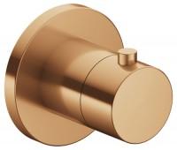 Keuco Thermostatarmatur IXMO 59553, rund, Bronze gebürstet, 59553030001