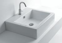 Axa one Hox Waschtisch/Aufsatzwaschtisch, B: 480, T: 480, H: 140 mm, weiss, mit 1 Hahnloch