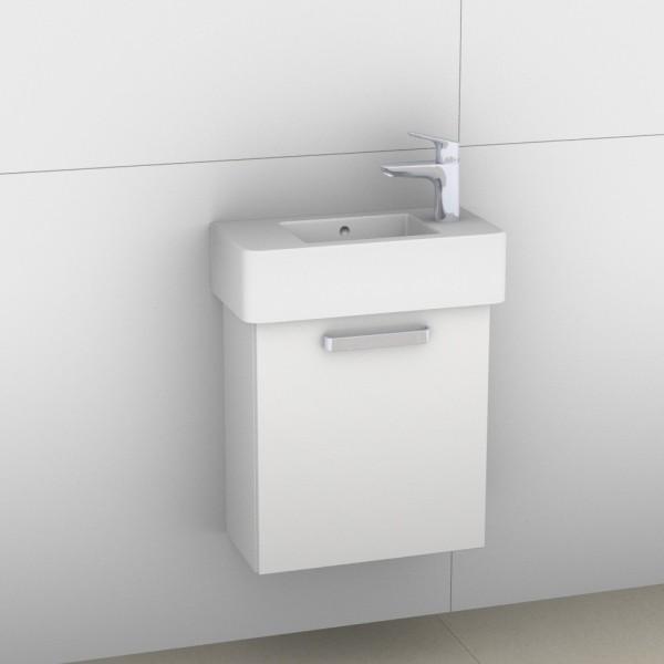 Artiqua 411 Waschtischunterschrank für Vero 070350, Weiß Hochglanz, 411-WUT-D28-R-7016-68