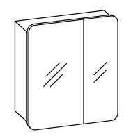 Artiqua EVOLUTION 213 Spiegelschrank B:600mm 2 asymetrische Türen