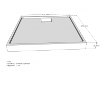 Neuesbad Duschwannenträger für Bette Duschwanne 5828
