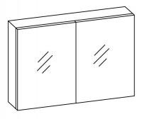 Artiqua COLLECTION 415 Spiegelschr. f. Becken re/li B:1020mm