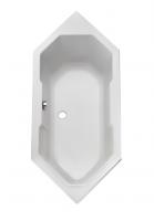 Acryl Sechseck-Badewanne Sierra 1800x800 mm, weiß