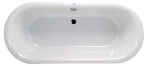 Neuesbad Acryl Duo Oval-Badewanne L: 1800, B: 800 mm, Farbe: weiss