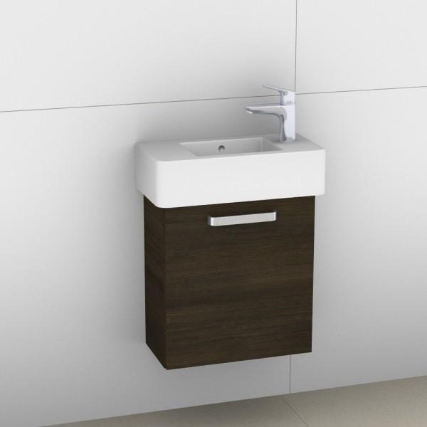 Artiqua 411 Waschtischunterschrank für Vero 070350, Mokka Struktur quer, 411-WUT-D28-L-7120-424