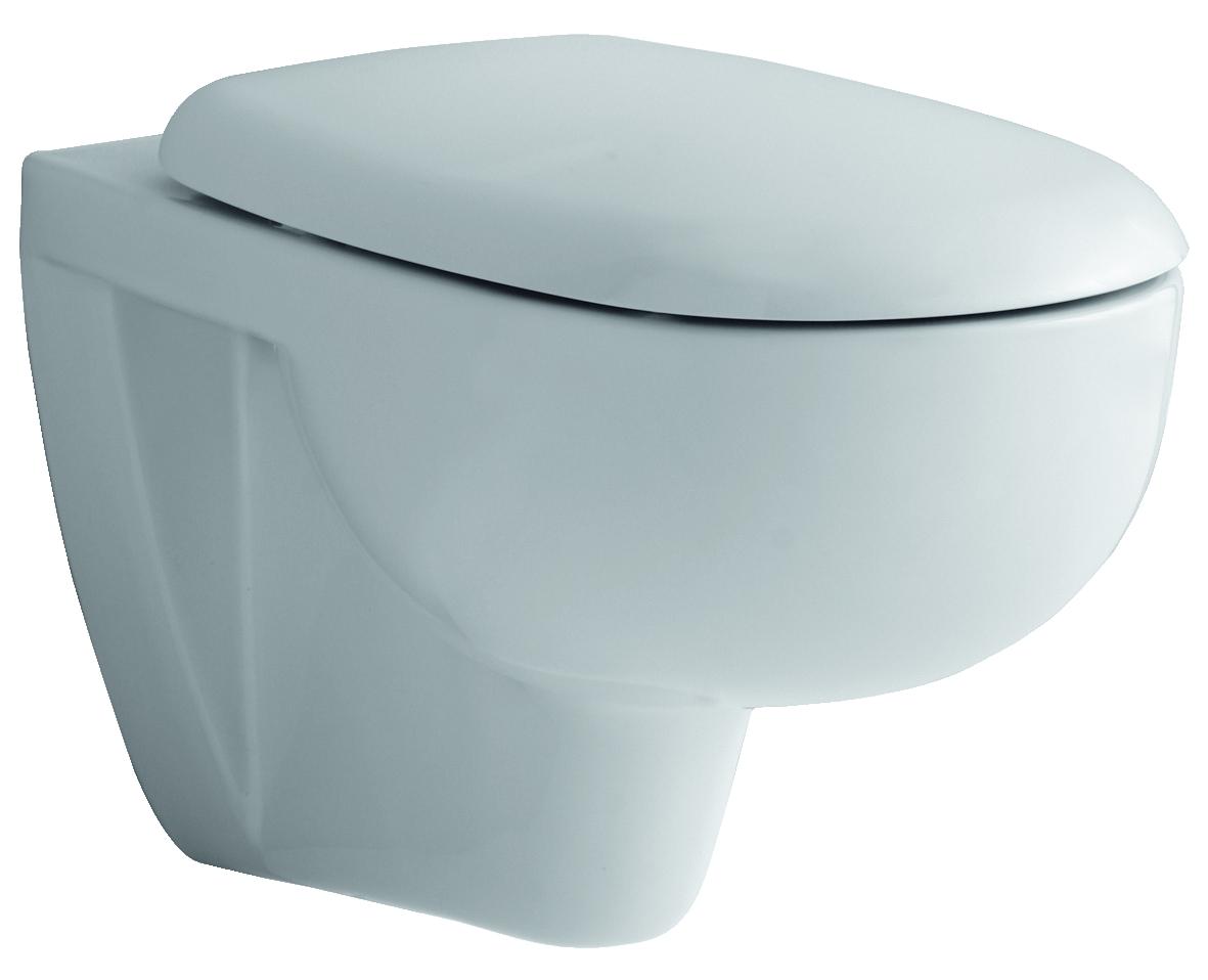Geberit Keramag WC Sitz Lineo by C., Scharniere chrom, 20, Weiß  Alpin