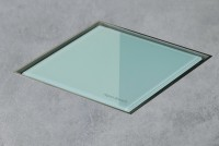 ESS Aqua Jewel Quattro 10x10 cm, Glas Grün, variable Sperrwasserhöhe von 50 bis 25 mm, AJQ-10x10-GG