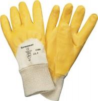 NORDWEST Handel AG Nitrilhandschuh Lippe Gr. 7 gelb teilbeschichtet einfach getaucht,