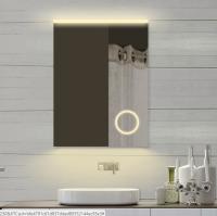 Neuesbad LED Lichtspiegel mit Schminkspiegel, Lichtfarbe wählbar, B:600, H:800 mm
