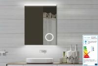 Neuesbad LED Lichtspiegel mit Schminkspiegel, B:600, H:800, T:25 mm